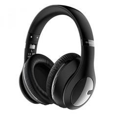 Criacr Nirkabel Bluetooth Headphone, Dilipat Ringan Headphone, Dua Sisi Lebih Telinga Headset dengan Hi-fi Stereo, 3.5 Mm Mendongkrak Audio, Mikrofon Dibangun Di-Dalam, untuk Ponsel, Tablet, Televisi, buah-Hitam-Internasional