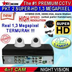 PROMO...PAKET CCTV SUPER-HD 2 KAMERA ( 4in1 Cam) REAL AHD SYSTEM 1.3 MEGAPIXEL ( Bukan ANALOG TVL ) TERMURAH