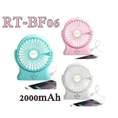 Robot Power Bank RT-BF06 2000mAh Portable Kipas Angin Mini Fan - Random Colour