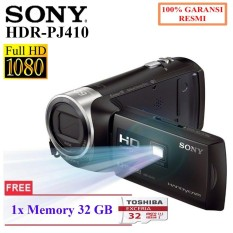 SONY HDR-PJ410 HANDYCAM With Built In Projector- ZEISS Lens- Wifi Free Memory 32GB