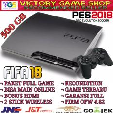 Sony Playstation 3/Ps3/Ps 3 Slim 500 Gb Ofw Hitam