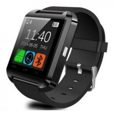U8 Bluetooth Smart Watch WristWatch with Camera Touch Screen for Android OS and IOS Smartphone Samsung Smartphone (Black)