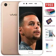 VIVO V5 Plus - 64 GB, RAM 4 GB, Dual 20 MP + 8 MP Front Camera - Gold + Free 4 Item Accessories