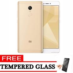 Xiaomi Redmi 4X - 16GB - Gold ( Ready Bhs Indonesia & 4G ) + Free Tempered Glass