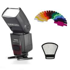 Yongnuo YN-560 IV Flash Speedlite untuk Canon Nikon Pentax Olympus DSLR Kamera + Filter Warna Gel Band