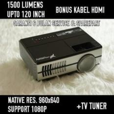 Yourday Proyektor Mini LED Projector Portable 1500 Lumens HD READY + TV Tuner