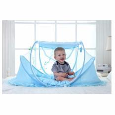 BEST Kelambu Bayi 4in1 (Kelambu Kasur Bantal Musik) Anti Nyamuk 4 in 1 Baby Mosquito Net Nets - BIRU