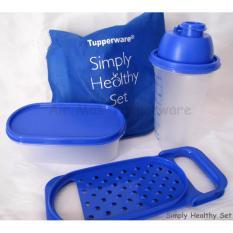 simply healthy set biru tupperware