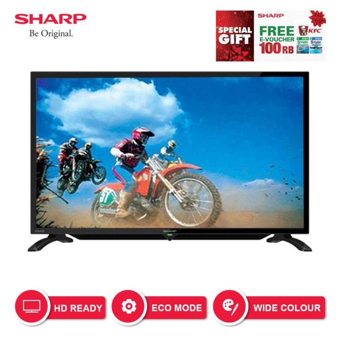 Sharp 32 inch LED HD USB TV - Hitam (Model LC-32LE180i)