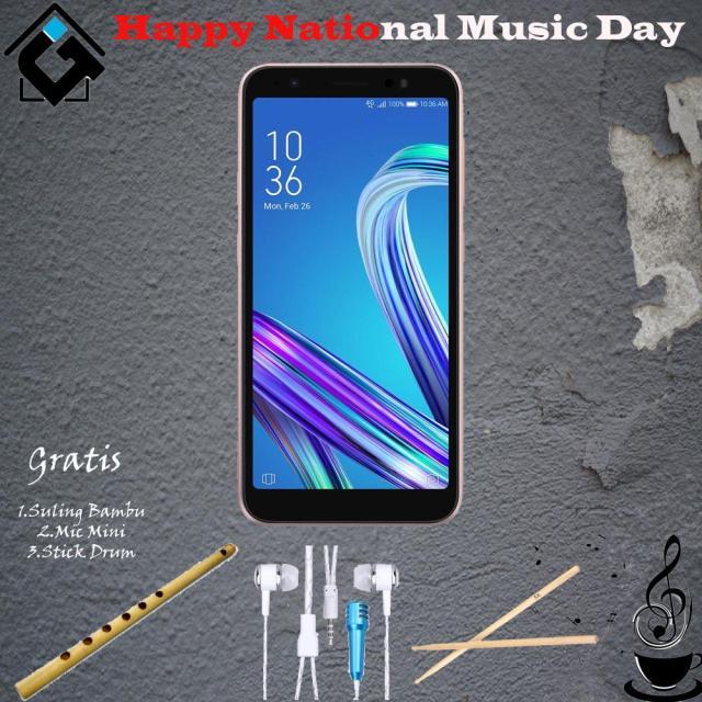 Asus Zenfone Live (L1) ZA550KL [2/16GB] Free Bumper Paket Musik