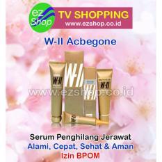 Paket 3 in 1 W-II Acbegone - Serum / Obat Penghilang Jerawat Alami (Peel Off Mask Gel, Moisturizing Essence Gel & Daily Pore Cleanser) - Jaminan Asli EzShop - Ez Shop Tv Home Shopping Indonesia