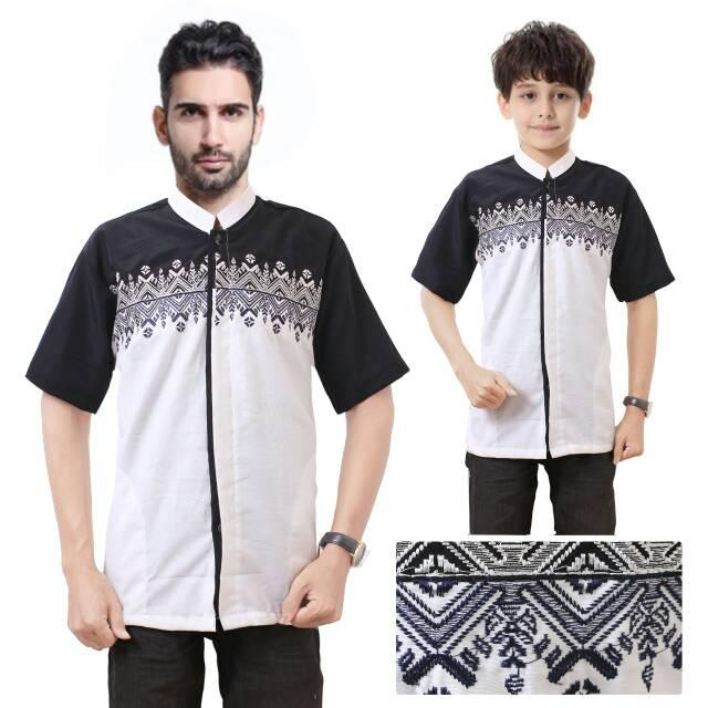 HULA*HULA Couple baju koko bapak anak baju muslim lengan pendek hendra