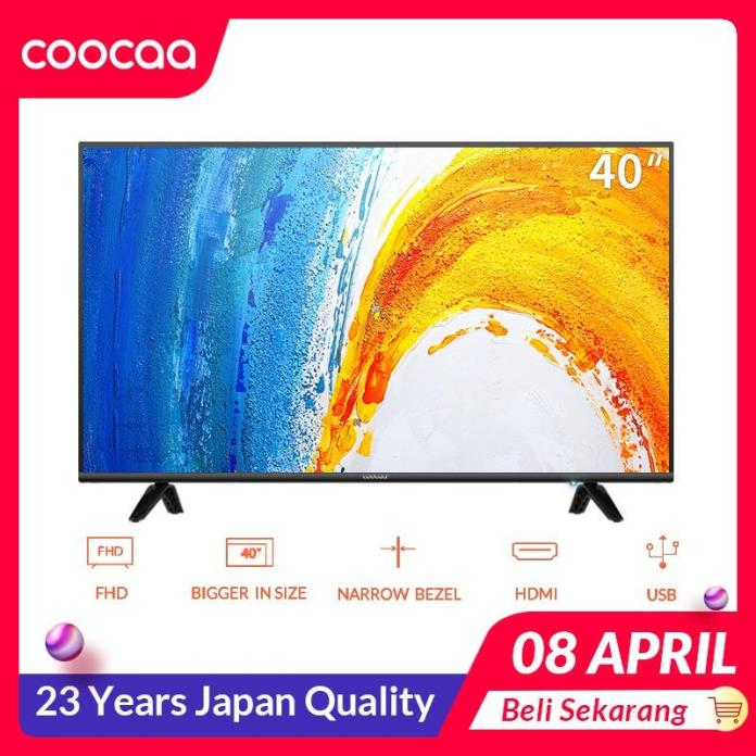 COOCAA LED TV 40 inch - Full HD Panel - Slim - USB/HDMI (Model : 40D3A)