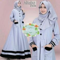 Alisha Dress - Gamis Hitam - Dress Murah - Baju Hijab Model Terbaru
