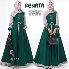 Baju Original Renata Dress Balotely Gamis Panjang Hijab Casual Pakaian Wanita Muslim Modern Maxy Terbaru Tahun 2018