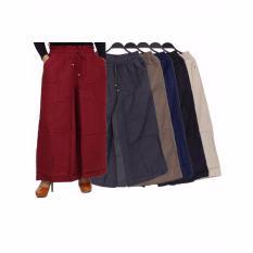 Celana Kulot Panjang Polos - Hitam