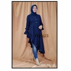 Baju wanita/Blouse/Kemeja Wanita/Jumpsuit/Playsuit Wanita/Baju Atasan/long dress/Dress Wanita/Baju Muslim/Jumpsuit/Sweater&Cardigan Wanita/Baju Tidur/baju Santai/Tunik/Rajut Waanita/baju murah/celana wanita-murah/fashion wanita/NINOS BLOUSE NAVY