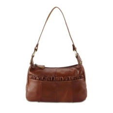 Kulit Asli Asli Baru Terbaik Womens Handbag Over Shoulder BagCasual Messenger Ladies Tas dari Kulit Alami Hari Clutches Brown- Intl-Intl