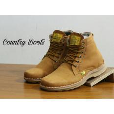 Sepatu Boots Pria Kulit Asli - COUNTRY BOOTS VIRGATUS RX - Tan