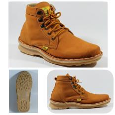 Sepatu Pria Original Boots Kulit Asli Pull Up - COUNTRY BOOTS VIRGATUS RX - Tan