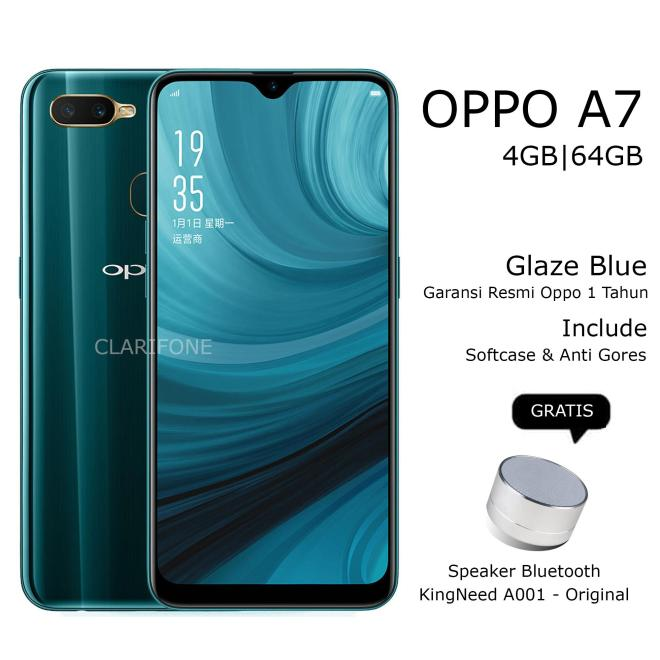 OPPO A7 4GB/64GB - 4G LTE - GARANSI RESMI
