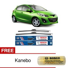Bosch Sepasang Wiper Frameless New Clear Advantage Mobil Mazda 2 DE 24