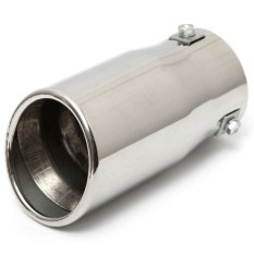 Mobil Auto Kendaraan Chrome Exhaust Pipe Tip Muffler STEEL Stainless Trim Tail Tube