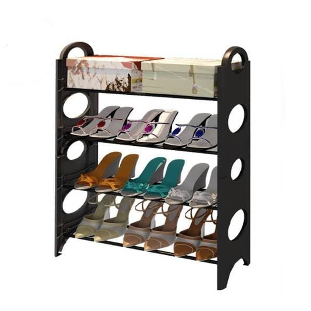 Rak Sepatu Portable RX8 4 Tingkat Tempat Sepatu Sandal 4 Susun Serbaguna Rangka Besi & Plastik