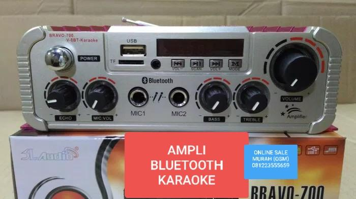 MR42 SL AUDIO ORIGINAL Ampli bluetooth mini ac dc wireles karaoke usb mp3 musik Ampli bluetooth mini ac dc karaoke usb mp3 musik Power Amplifier bluetoot bluetot blutut ampli USB MP3 player audio sound pro aux dj asli radio fm music musik Power amplifier