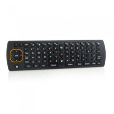 JOR 2.4G Nirkabel 6D Giroskop Fly Air Mouse 360 ° Rotating QWERTY Keyboard Remote Controller untuk Android Smart TV KOTAK Mini PC Handheld (Hitam)) -Intl