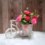 Asy4m Bunga Hiasan Artificial Buket Bunga Mawar Hiasan Meja Bunga Vas Keranjang Sepeda Besar Vs01 Lazada Indonesia