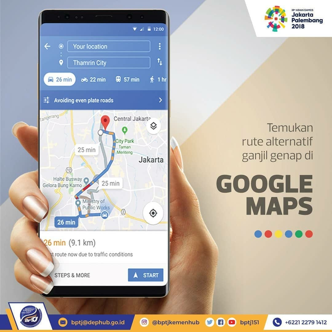 Google Map Asian Games 2018