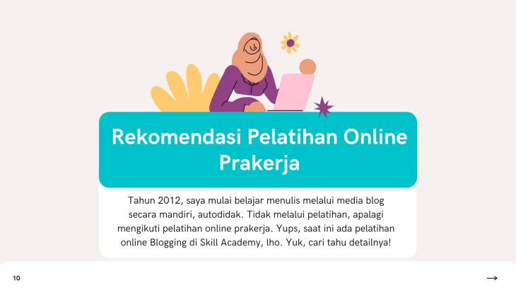 Rekomendasi Pelatihan Online Prakerja