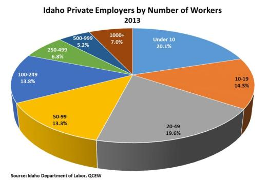 Pie chart - Number of workers