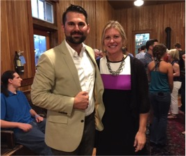 Nick Smoot, creator of Innovation Collective and the Think Big Festival, celebrates a great festival with Labor Kootanai County Regional Manager Vicki Isakson.