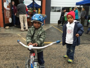 kids with bikes