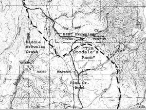 Ferry Route-Tim Goodale's Pass, down Middle Brownlee Creek