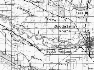 Goodale's Route, North of Payette River, and South Variant