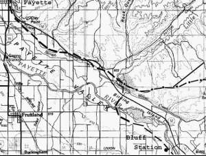 Goodale Crossing, North West of Bluff Station, and on to Payette