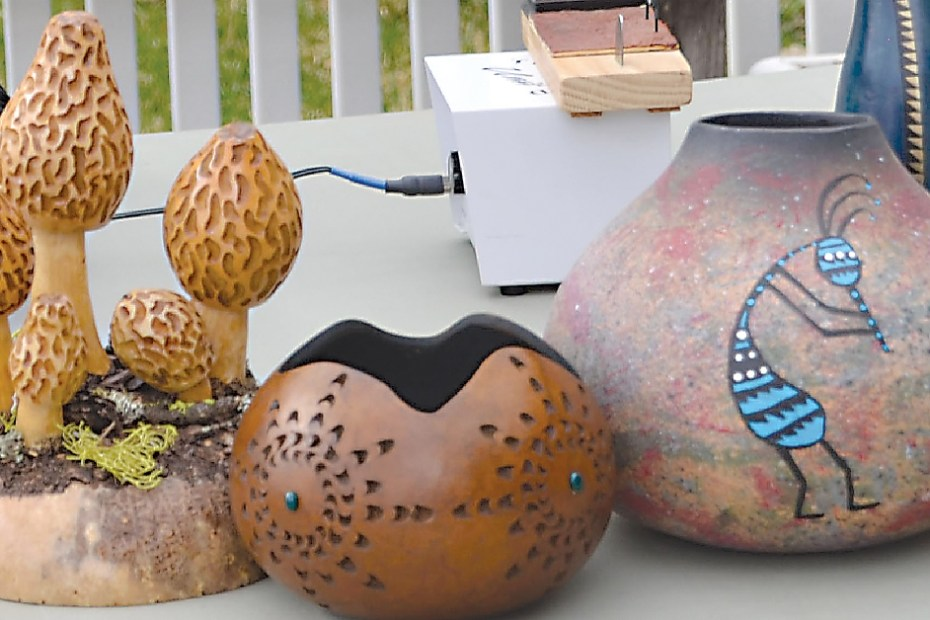 Gourds of artist Carol Joyce, Photo by Dianna Troyer