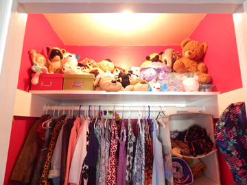 Stuffed animals have a home instead of being all over the floor!