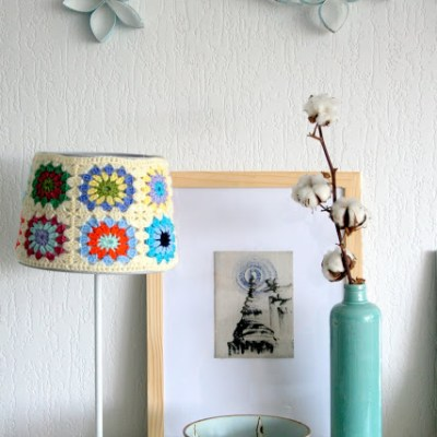 My crochet lamp/cuschion