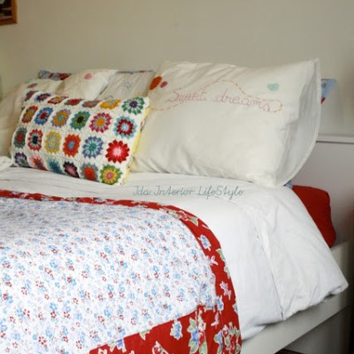 Flowers and quilt