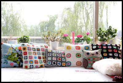 New crochet cushion {let's try with black}