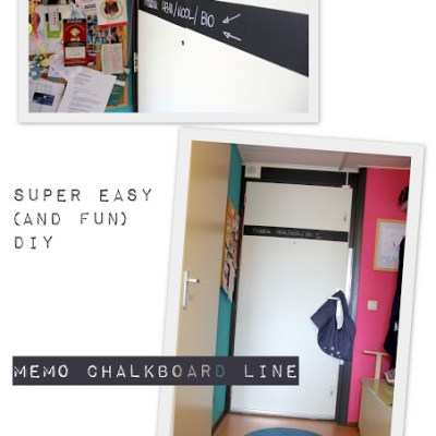 SuperEasy DIY: memo chalkboard line