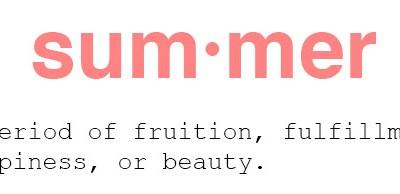 Six inspirations {summer mood}