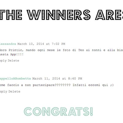 Printic GIVE AWAY: the winners