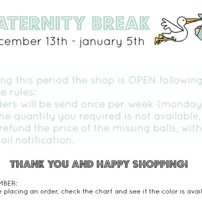 Maternity break for IDA yarn shop