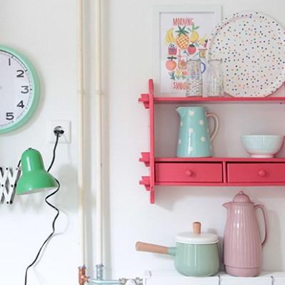 DIY :: mint kitchen clock