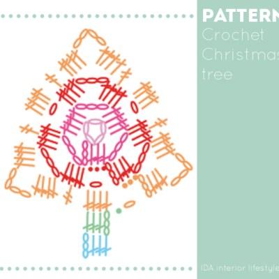 Free pattern :: Christmas tree crochet garland